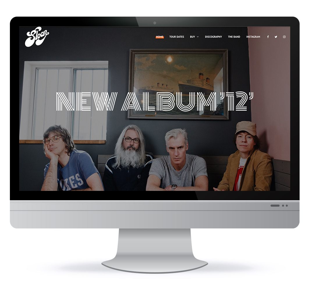 Website redesign for Canadian band Sloan