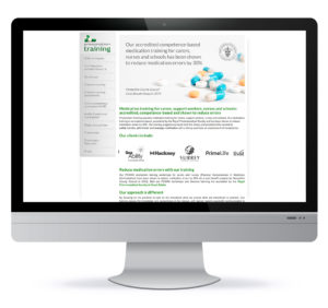 BEFORE: The Prescription Training Company website before the redesign