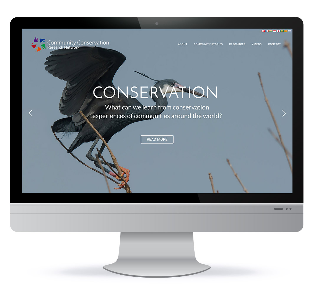 Website design in Halifax NS for Community Conservation Research Network