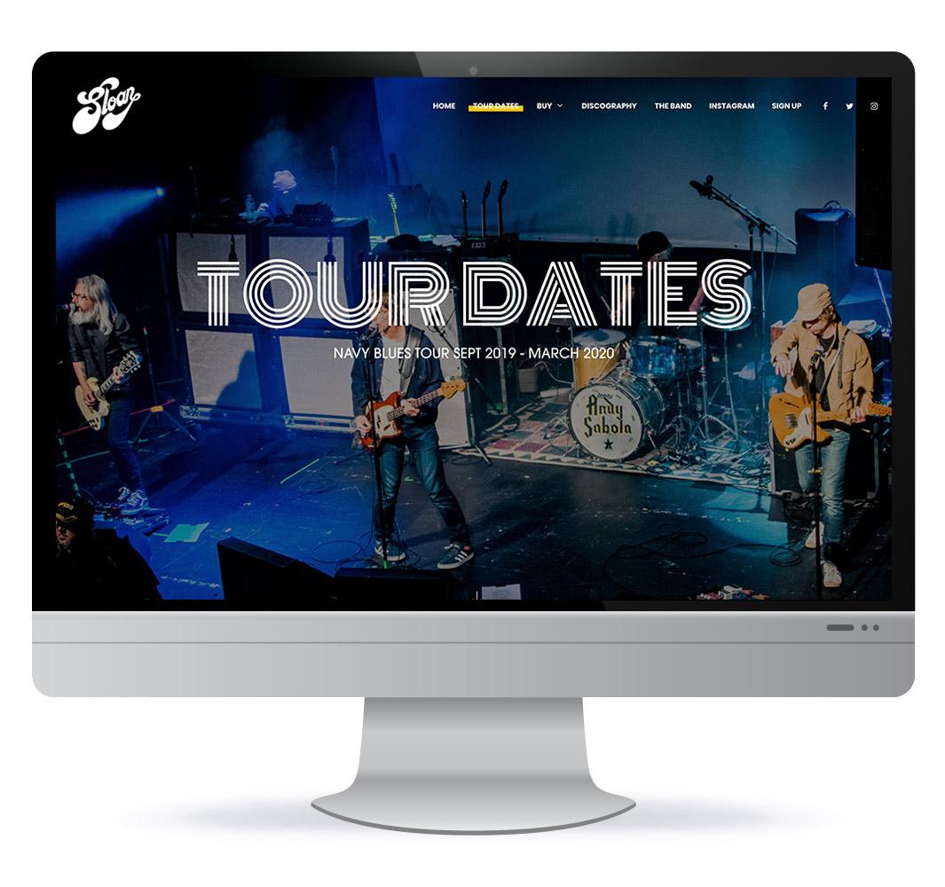Website design for Canadian band Sloan