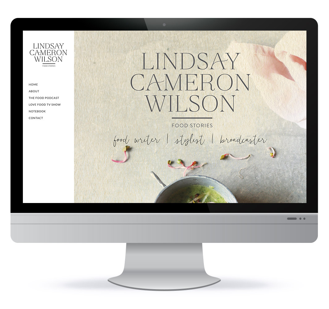 Screenshot of Lindsay Cameron Wilson's website