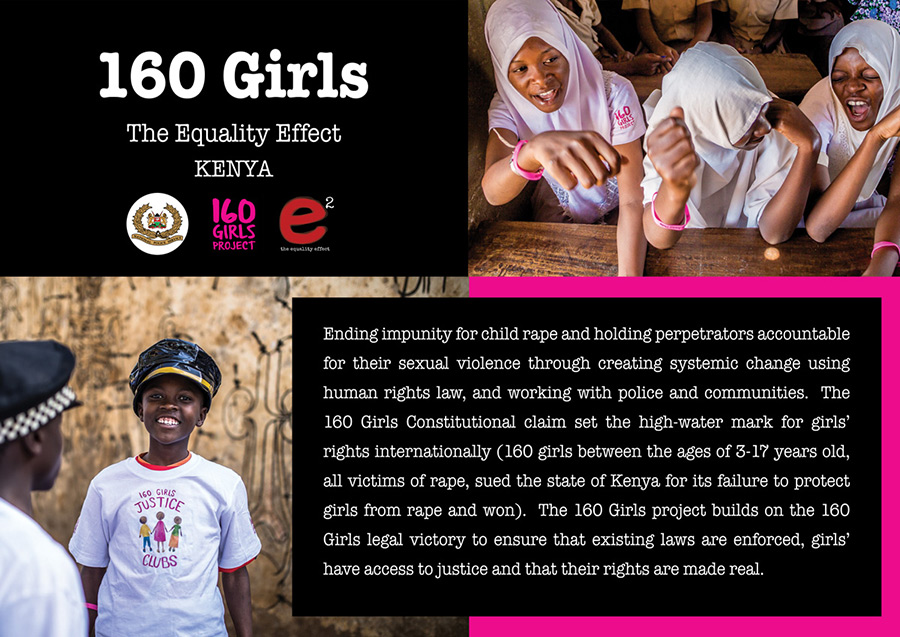 Graphic design for The Equality Effect & 160 Girls